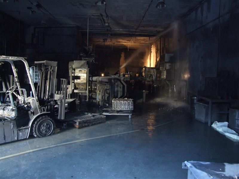 Interior photo of AL Solutions Following 2010 Fatal Accident